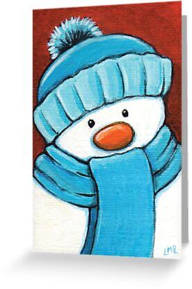 Snowman in Blue by Lisa Marie Robinson