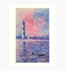 Cape Lookout Lighthouse- North Carolina Art Print