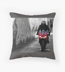 Red Ducati  Throw Pillow