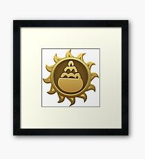 Glitch Giants emblem pot Framed Print
