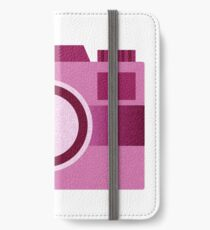 Retro Old-Time Camera, Pink iPhone Wallet/Case/Skin