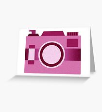Retro Old-Time Camera, Pink Greeting Card