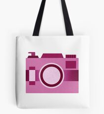 Retro Old-Time Camera, Pink Tote Bag