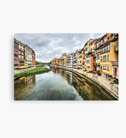 The Houses on the River Onyar (Girona, Catalonia) Canvas Print