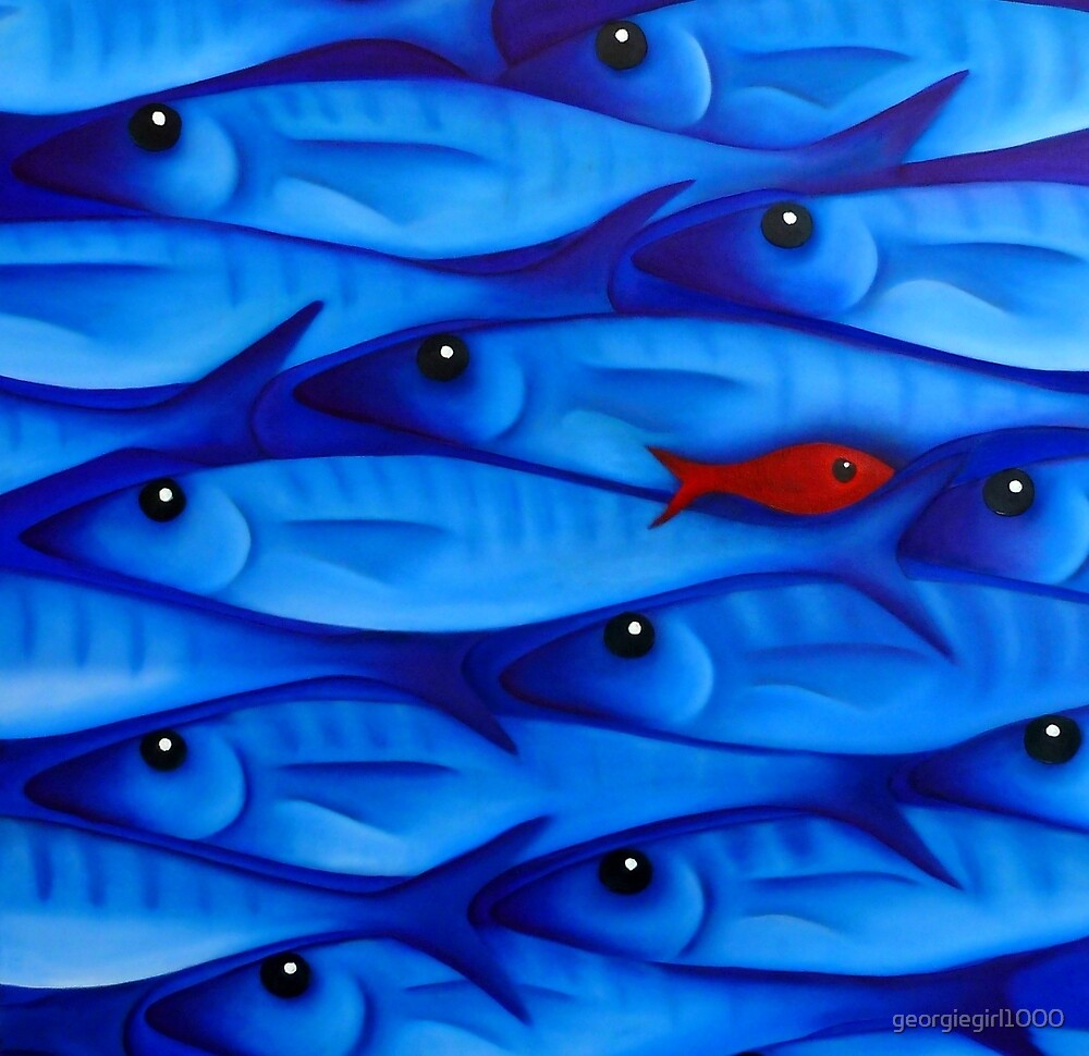 Blue Fish 3 by Georgie Greene