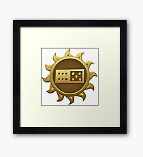 Glitch Giants emblem ti Framed Print