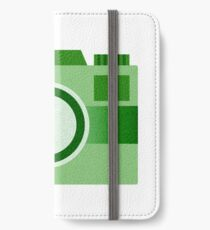 Retro Old-Time Camera, Green iPhone Wallet/Case/Skin