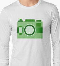 Retro Old-Time Camera, Green Long Sleeve T-Shirt