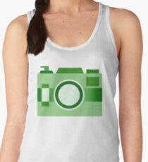 Retro Old-Time Camera, Green Women's Tank Top