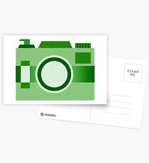 Retro Old-Time Camera, Green Postcards