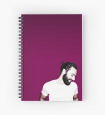 Aidan Turner Mun Design  Spiral Notebook