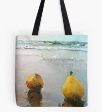 PEARS DAY OUT AT THE BEACH Tote Bag