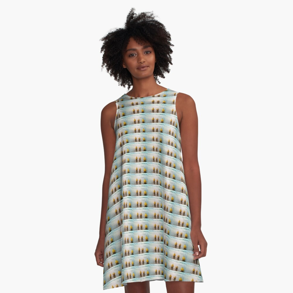 PEARS DAY OUT AT THE BEACH A-Line Dress