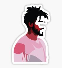 J. Cole profile view Sticker