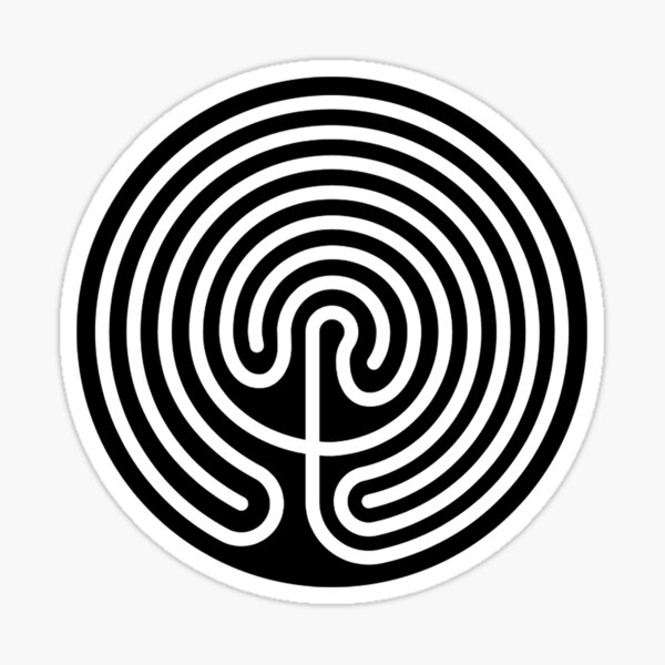 Reverse Cretan Labyrinth Sticker
