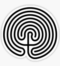 Cretan Labyrinth Sticker