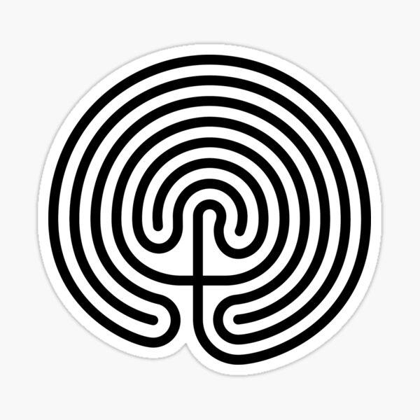 Cretan Labyrinth Sticker