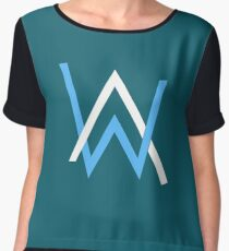 alan walker music best logo Chiffon Top