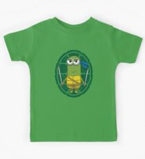 Minion Turtle Leonardo Kids Tee