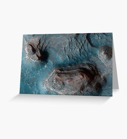 Mesas in der Nilosyrtis Mensae Region des Mars. Grußkarte