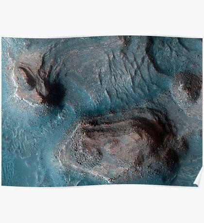 Mesas in der Nilosyrtis Mensae Region des Mars. Poster