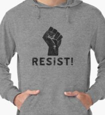 Resist Fist with Exclamation Point Lightweight Hoodie