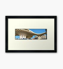 La Encarnacion square, in the old quarter of Seville, Spain. Framed Print