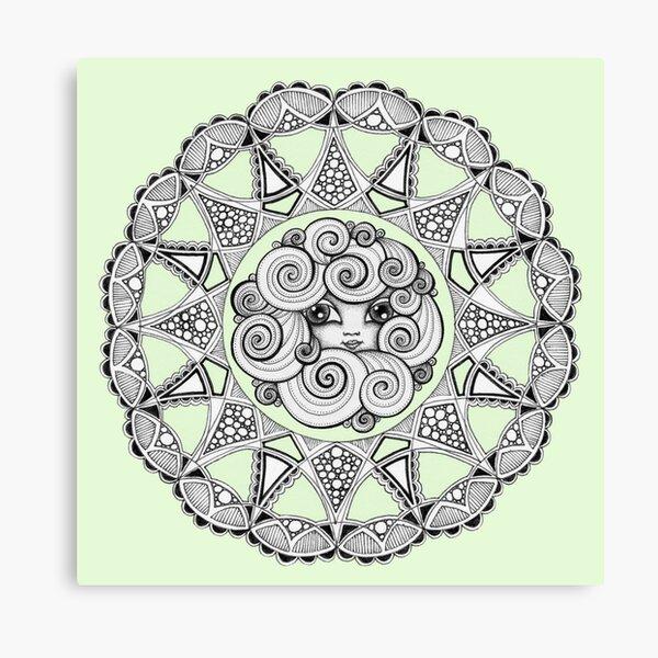 Madame Swirl Canvas Print
