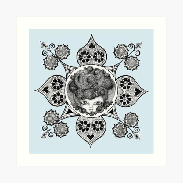 Madame Beehive Art Print