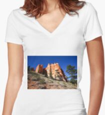 Bryce Canyon, National Park, Utah, USA Women's Fitted V-Neck T-Shirt
