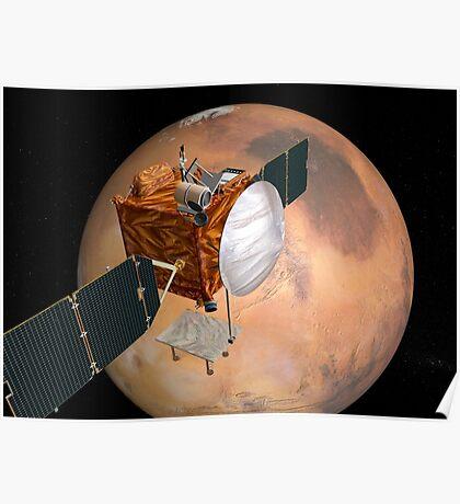 Mars Telecommunications Orbiter im Flug um den Mars. Poster