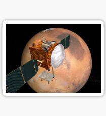 Mars Telecommunications Orbiter im Flug um den Mars. Sticker