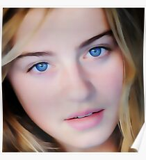 Blue Eyed Girl - Photographic Painting Poster