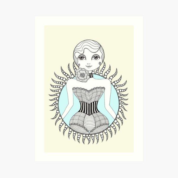Hulahoop Betty Art Print