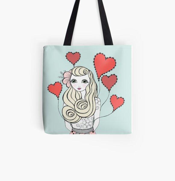 Valentine All Over Print Tote Bag