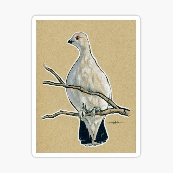 State Bird Series:  Alaska - Willow Ptarmigan Sticker