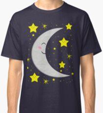 Sleeping Paper Moon + Stars Classic T-Shirt