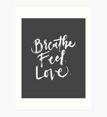 Give. Free. (White Text) Art Print
