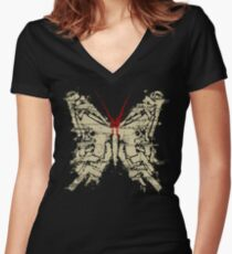 Deadly Species - Butterfly Women's Fitted V-Neck T-Shirt