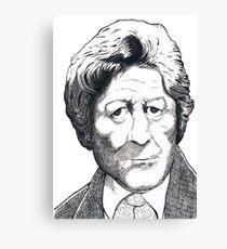 Jon Pertwee - Dr Who Canvas Print