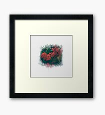 Fading Flowers / Watercolor Framed Print