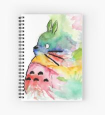 Totoro - Watercolour Spiral Notebook