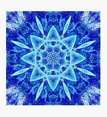 Ice Matrix Mandala Photographic Print