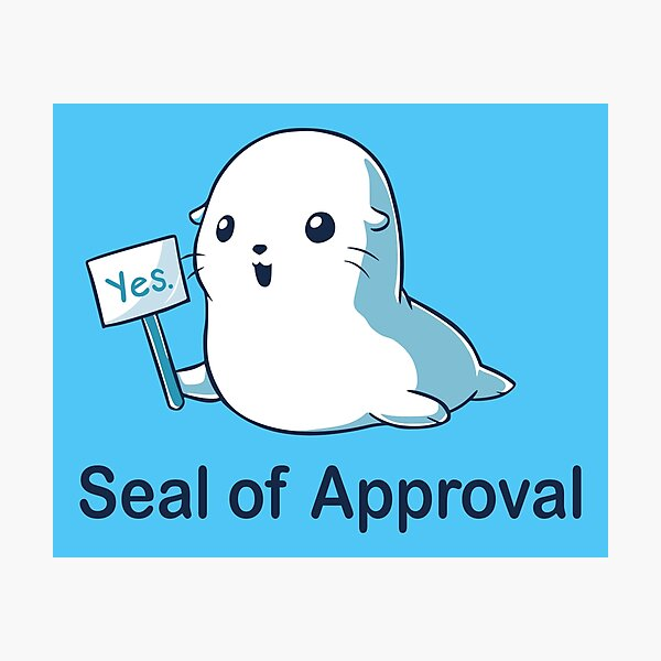 Seal of Approval Photographic Print