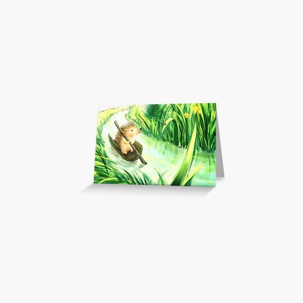 Hedgehog on a journey Greeting Card