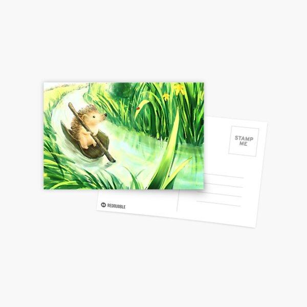 Hedgehog on a journey Postcard