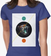 Geometric Tiger Womens Fitted T-Shirt