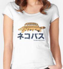 Nekobus retro Women's Fitted Scoop T-Shirt