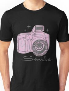 Camera Smile- womans photography shirt Unisex T-Shirt