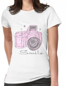 Camera Smile- womans photography shirt Womens Fitted T-Shirt